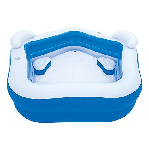 Sunronal Piscina Inflable, Gran Centro de natación Familia Piscina fácil de Montar Oferta de Fiesta de Verano para bebés y Adultos Centro de natación Piscina Familiar con Asientos para bebés Niños