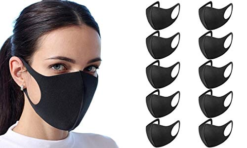 Maschera Antipolvere 10 pezzi in Spugna Riutilizzabile Lavabile
