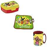 Set Bing Conejito Comedor desayuno Mantel individual Americano + Box merienda + Taza para niños 350 ml