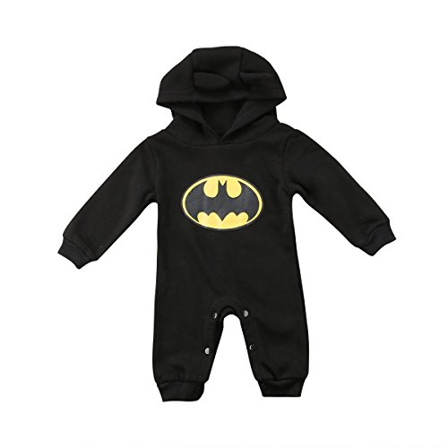 Strampler Set Junge, 2019 heißer Baby Jungen Kurzarm Superman Strampler Hut Schuhe & Socken dreiteilige Kleidung Set (E, 9-18 Monate)