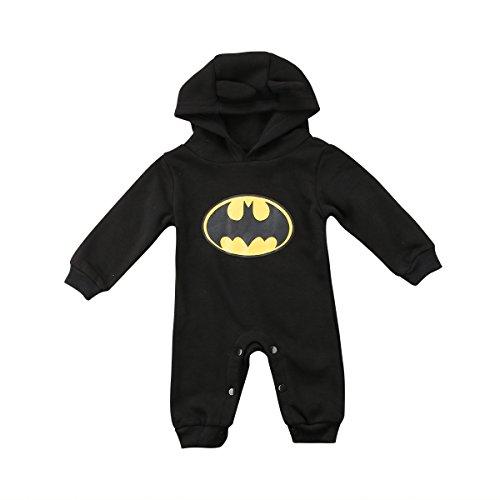 Strampler Set Junge, 2019 heißer Baby Jungen Kurzarm Superman Strampler Hut Schuhe & Socken dreiteilige Kleidung Set (E, 3-9 Monate)