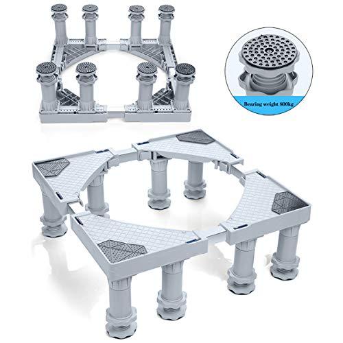 Mfnyp Wasmachine Basiskoelkast Socket, Verhoog en Verhoog De Statief Basisframe Verstelbaar Voor Droger, Wasmachine En Koelkast