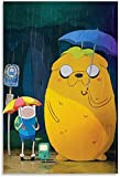 DINGDONG ART Bild Auf Leinwand 60 * 90cm Kein Rahmen Anime Adventure Time Jack Poster Dekorative Wandkunst Wohnzimmer Poster Schlafzimmer