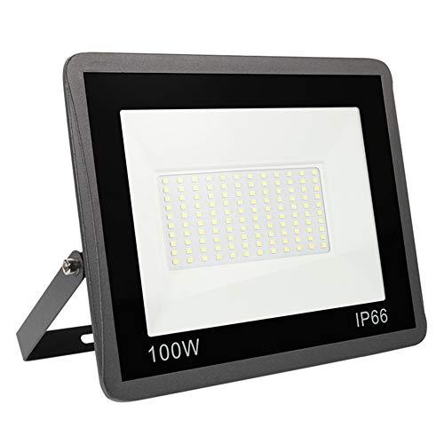 100W Focos LED Exterior, Yinet-EU Alto Brillo Proyector LED 10000LM Blanco Frío 6000K LED Luz Exterior IP65 resistente al agua para jardín garaje estacionamiento almacén Iluminación del paisaje