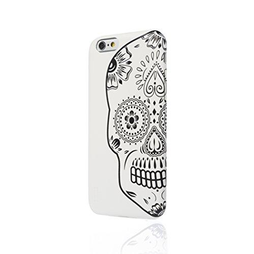 Aiino Custodia Protettiva Cover Case Tattoo Skull Accessorio per Cellulare Smartphone Apple iPhone 5/5S, Bianco