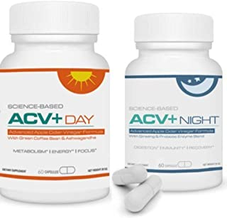 ACV+ - Apple Cider Vinegar Plus Daytime & Nighttime Capsules - Advanced Apple Cider Vinegar Formula