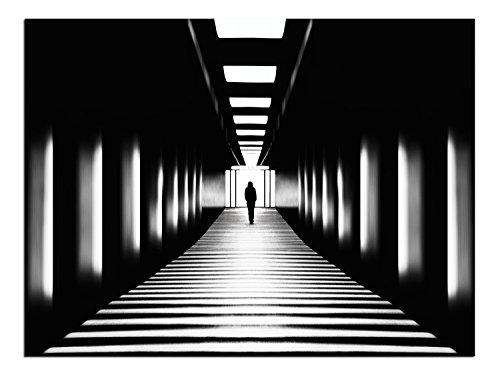 JP London lösungsmittelfrei Poster Kunstdruck PAP1X 698182Übergang Schwarz Weiß Underground Subway fertig zum Rahmen Wand 61cm H By 45,7cm W