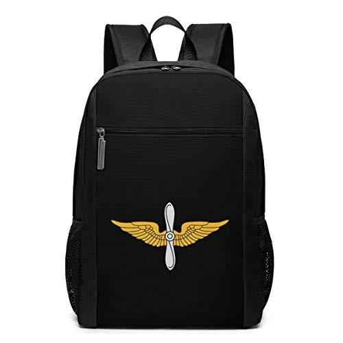 ZYWL United States Army Aviation Branch Laptop Rucksack, Reiserucksäcke School College Bookbag für Frauen und Männer 17 Zoll