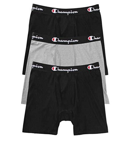 Champion Herren Athletics Everyday Comfort Collection Boxer Brief Slip, 2 Neue Ebenholz/Oxford Grey Heather, Small