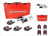 Rothenberger elektrohydraulische Fitting - Pressmaschine ROMAX AC ECO Presskontur 'V' Set mit...