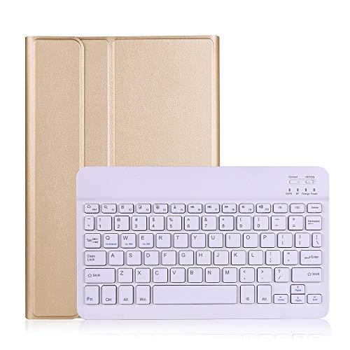 HHF Pad Accesorios para Samsung Galaxy Tab S6 Lite 10.4, Teclado Bluetooth de división Flip Tablet Tablet Funda PU Cubierta PC para Samsung Galaxy Tab S6Lite P615 P610 (Color : Oro)
