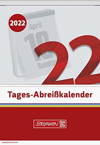 BRUNNEN 1070313002 Tages-Abreißkalender Nr. 13, 1 Seite = 1 Tag, 98 x 142 mm, Kalendarium 2022