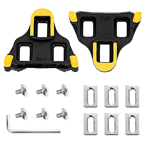 LANNIU Bike Cleats Compatible with Shimano Cleats, Cycling Pedals Cleat for SPD-SL System Shoes -6 Degree Float for Indoor Outdoor Road Bicycle Cleat Set