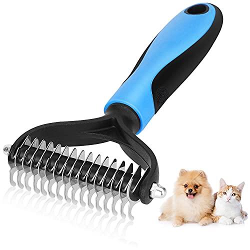 Nobleza Hundebürste & Katzenbürste für Hunde & Katzen mit Mittel- bis Langhaar,Tierhaarbürste Unterwollbürste gegen Verknotungen und Unterwolle,Löst Knoten und Verfilzungen für Gesundes Fell