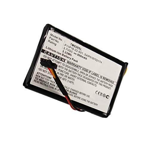 subtel® Batería premium compatible con TomTom 4ET0.002.07, Start XL Central Europe Traffic, Start XL Europe Traffic (900mAh) P11P16-22-S01,S4IP016702174 bateria de repuesto, pila reemplazo, sustitución