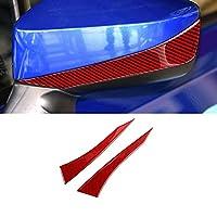 BTOEFE レッドカーインテリアカーボンファイバーカバートリムウィンドウリフターACアウトレットコンソールエンジンスタートストップ、スバルブルツ/トヨタ86 2013-2020