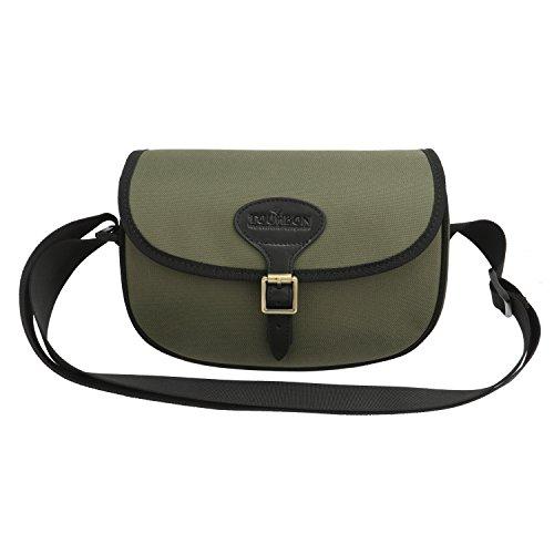 TOURBON Bolsa para cartuchos de escopeta de nailon 600D y piel, color verde (#1)