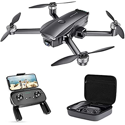 SNAPTAIN SP7100 Foldable GPS Drone with 4K HD Camera Live Video for Adults, Quadcopter with Brushless Motor, Smart Return to Home, Follow Me, Points of Interest for Beginner with 26 Mins Flight Time
