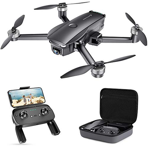 SNAPTAIN SP7100 4K GPS Drone with UHD Camera for Adults, Foldable Quadcopter with Brushless Motor, Smart Return to Home, Follow Me, Points of Interest for Beginner with 26 Mins Flight Time