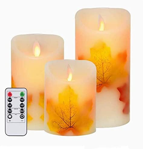 AVEKI LED Candle Lights 3 PCS Flameless Candles Light Warm White Battery Operated Electric LED product image