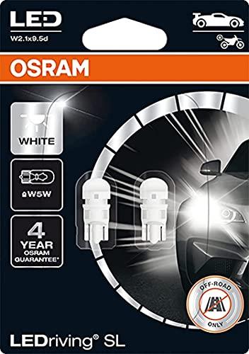 OSRAM BOMBILLAS AUXILIARES W5W 0,8W-W2 1x9.5d LED DRIVING 6000K 12V, blanco