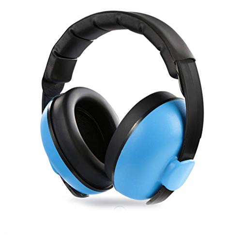 Baby Ear Protection Noise Cancelling Headphones, Comfortable and Adjustable Noise Reduction Earmuffs, Infants Hearing Safe Protect Headphone, for Concerts Fireworks, 0 - 5 Years Baby and Kids (Blue)