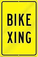 自転車横断標識ヘビーメタルティンサインアルミニウム