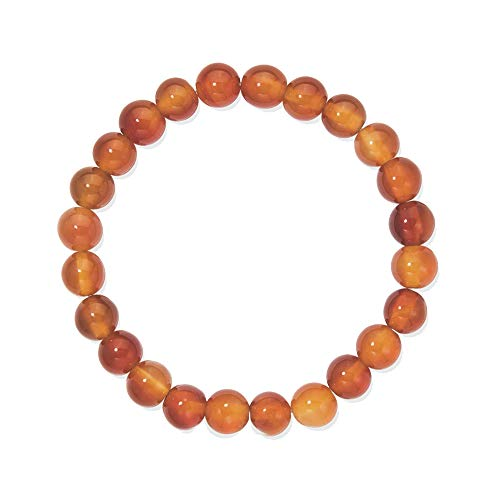 Unbekannt Pulsera de piedras preciosas, bolas, Cornalina, diámetro de 8mm