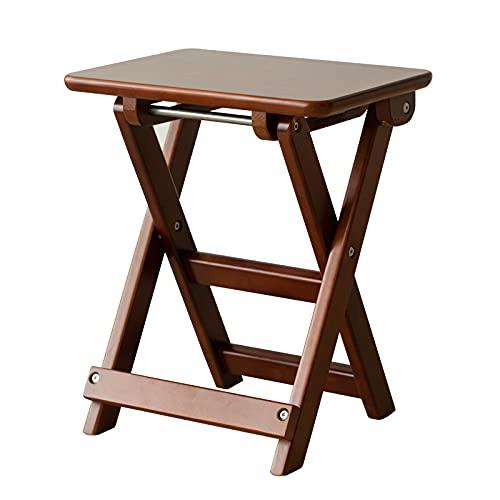 Xiaojie Taburete de almacenamiento para caballos pequeños, conveniente, banco, hogar, madera maciza, espacio, silla de cocina, silla de comedor (color: marrón)