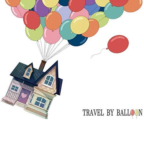 Adhesivos de pared de globo de aire caliente para viajes a la habitación de los niños, papel tapiz de globo calcomanías de pared de dormitorio de bebé para niños murales 102 * 121 cm