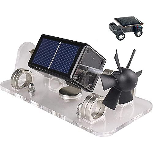 WFGZQ Motor Solar De Levitación Magnética Motores De Ventilador Solar Modelo De Experimento Educativo Modelo DIY Mendocino Adornos Creativa