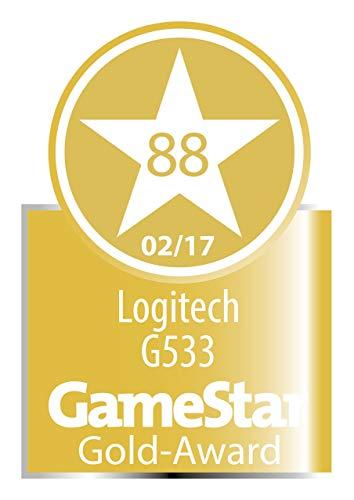 Logitech G533 Gaming Headset (Wireless DTS 7.1 Surround Sound) Black