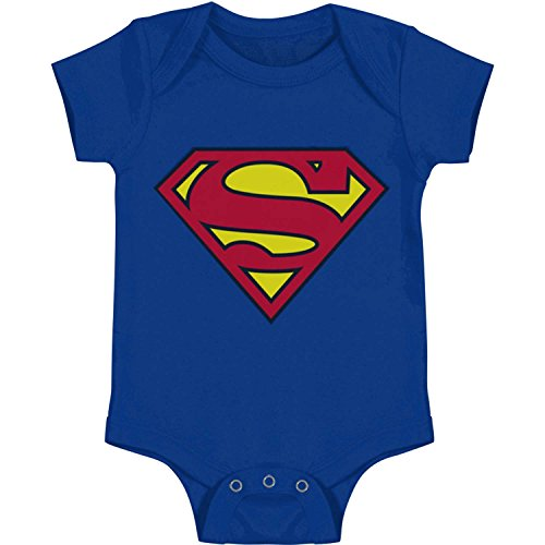 DC Comics Superman clásico del logotipo del bebé mameluco infantil Snapsuit