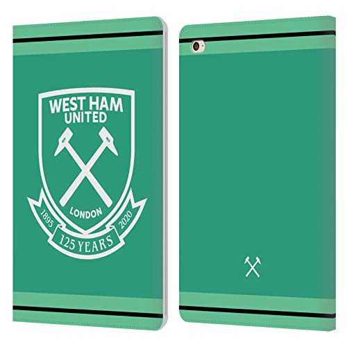 Official West Ham United FC Home Goalkeeper 2020/21 Crest Kit Leather Book Wallet Case Cover Compatible For Apple iPad mini 4