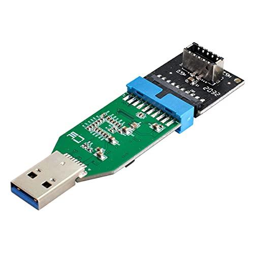 Cablecc USB 3.1 Panel frontal Socket Key-A Tipo-E a USB 3.0 20Pin Header a Tipo-A Adaptador de Extensión Macho