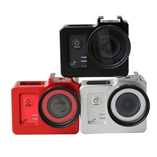 Hangmao Diámetro del Caso de la cámara aleación de Aluminio Universal de protección con 40.5mm Lente y de la Lente de la cámara Tapa Protectora WiFi Deporte de la acción (Color : Black)