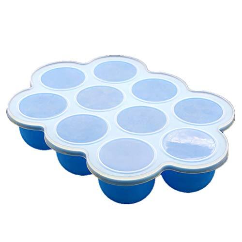 ARTOCT Mini siliconen ijslollyvorm, 10 verpakkingen DIY Ice Pop vorm met plastic staafjes, lollys en ijsvormen, bewaardoos voor babyvoeding, anti-aanbak-ijsblokjesvormen