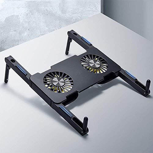 Mini Almohadilla De Enfriamiento Portátil, Soporte Portátil Adaptable Portátil, Con Dos Ventiladores Silenciosos De Enfriamiento Rápido, Adecuados Para Una Computadora Portátil De 12-17 Pulgadas