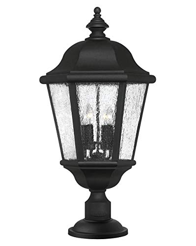 Hinkley Edgewater Extra Large Post Top or Pier Mount Lantern 12V LED Outdoor Landscape Black Finish