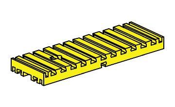 fischertechnik ® - 2 Stück - Platte - Bodenplatte - Bauplatte - 30 x 90 gelb