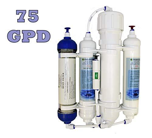 finerf ilters ósmosis inversa de filtro, de 4niveles, compacto, con Di de resina, para tropicales y mar agua de acuarios y symphysodon, 50/75/100GPD