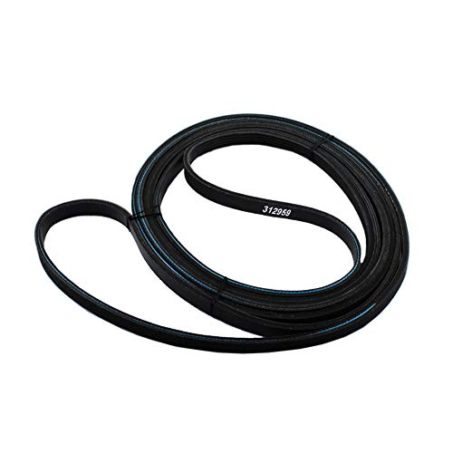 312959(Y312959, WPY312959) Dry Belt for May-tag, Whirlpool, Amana, Jenn-Air Admril, Replace 314774 PS11757542 AP6024192 P46-150 P46-151 Drive Belt