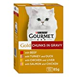 Purina Gourmet Gold Cat Food Gravy Collection, 12 x 85 g - Pack of 4