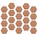 dailymall 20 Stück Hexagon Presskorkplatte Korkplatte Pinnwand Kork