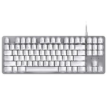 Razer BlackWidow Lite TKL Tenkeyless Mechanical Keyboard   Orange Key Switches - Tactile & Silent - White Individual Key Lighting - Compact Design - Detachable Cable - Mercury White one Size