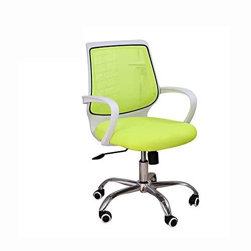 DALIBAI Swivel Lumbar Support Rotating Lift Work Chair, Computer Ergonomic Mesh Work Chair with Armrest