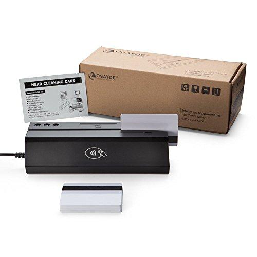 ITOSAYDE 880 3-en-1 Nuevo USB MSR Magstripe & RFID NFC & Psam Lector y Escritor/codificador programable con 20 Tarjetas en Blanco, sólo para Personas Profesionales de ADPU Uso de Chip EMV Smart Card