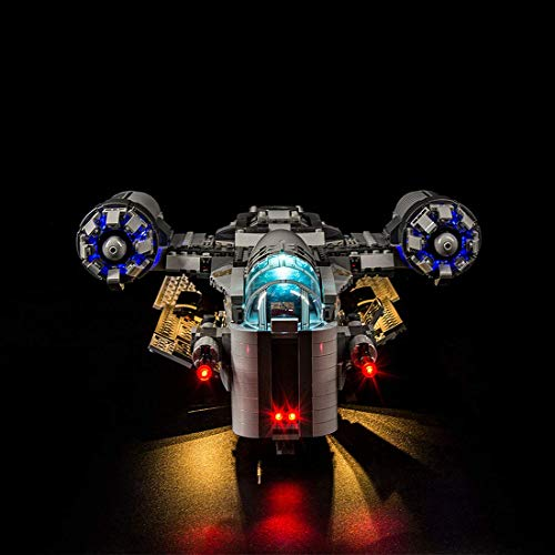 LINANNAN Light Set for Lego Mandalorian: Razor Crown 75292, LED Lighting Kit Compatible with 3 Modes for Lego Mandalorian: Razor Crown (Lego Model Not Included)