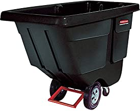 Rubbermaid Commercial FG130400BLA Polyethylene Tilt Dump Truck, 450-Pound Capacity, Black