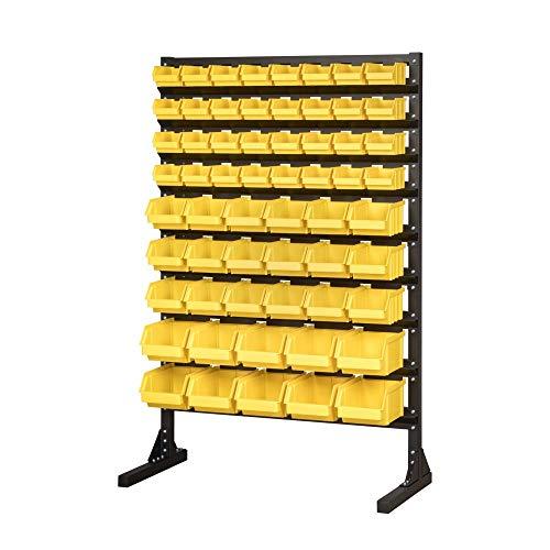 Klemp - Stapelboxen voor werkplaats, sorteerkast, opbergsysteem voor kleine onderdelen, set van 60 SML stuks geel